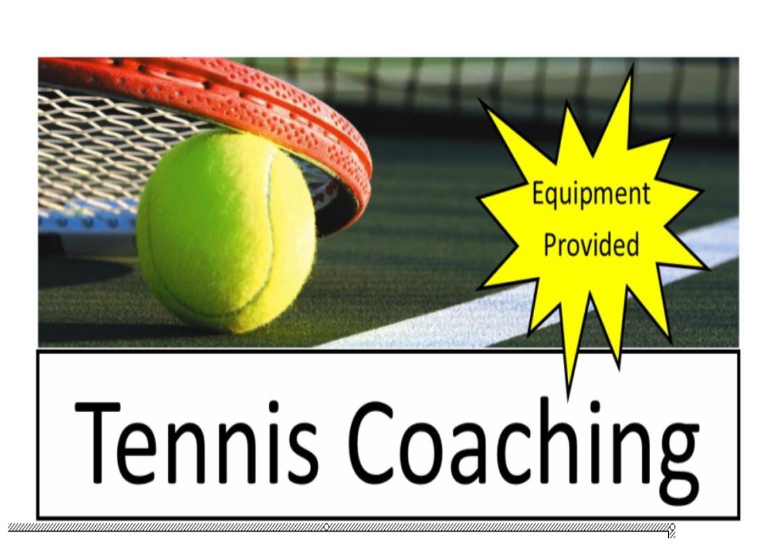 tennis coaching sign