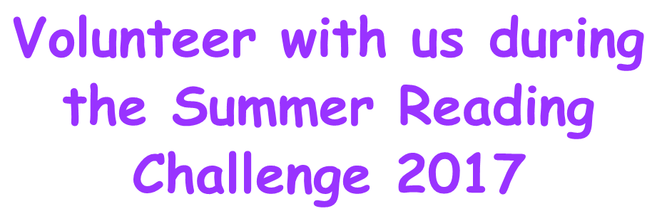 Volunteer with us during the Summer Reading Challenge 2017