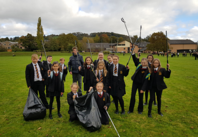 Our Litter Pickers Keeping CHS Tidy