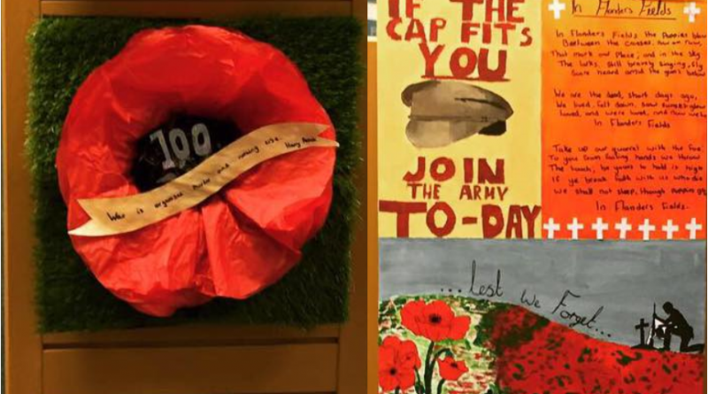 WW1 Remembrance Library Display