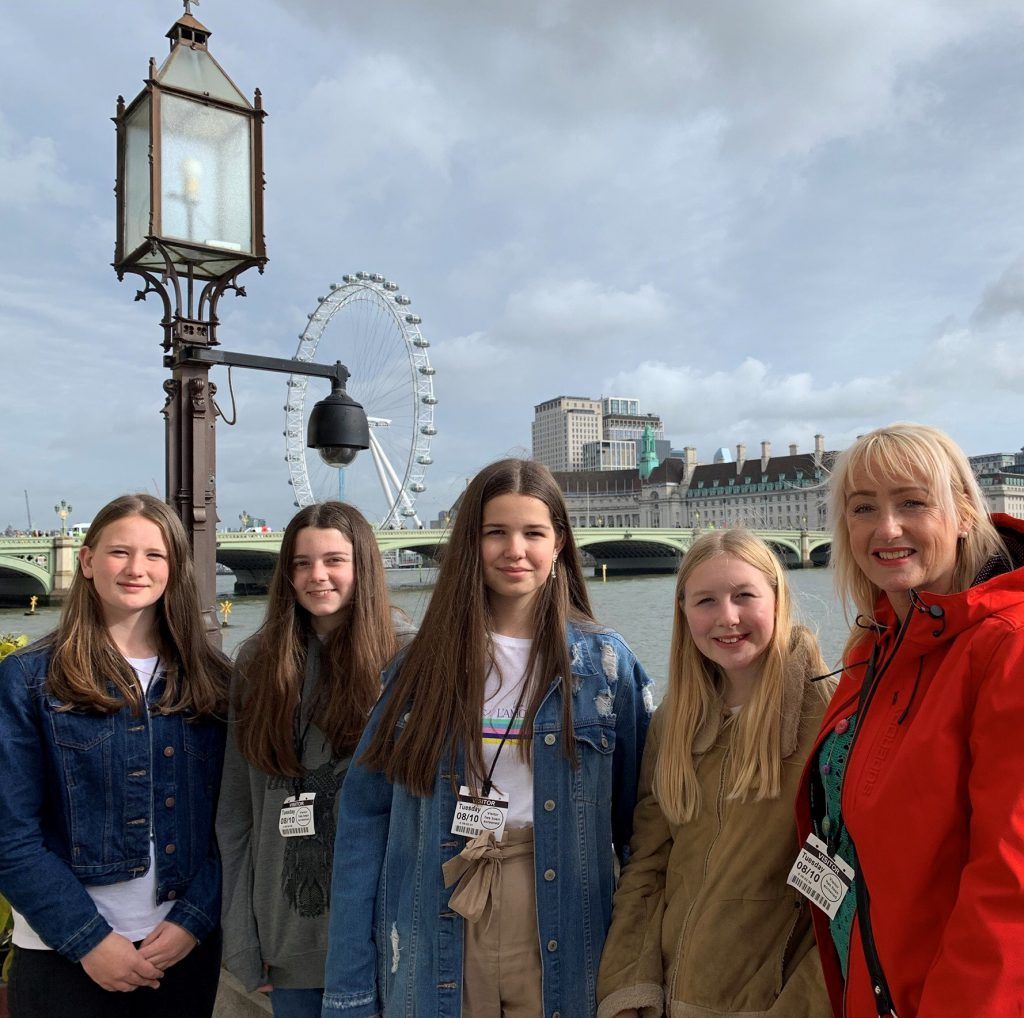 Welsh Bac Students exhibit in London and visit Parliament